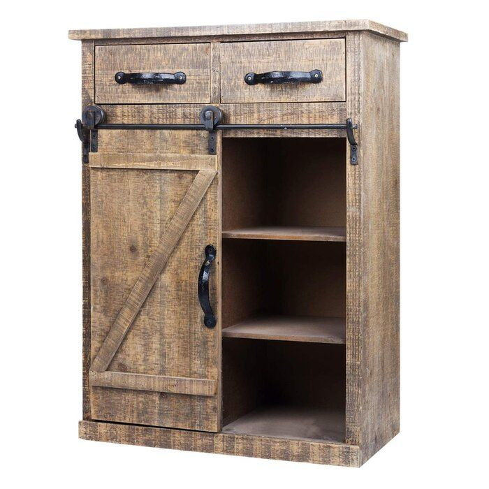 Refugio 1 Door Accent Cabinet Wood Storage Cabinets Wood End Tables Wood Console