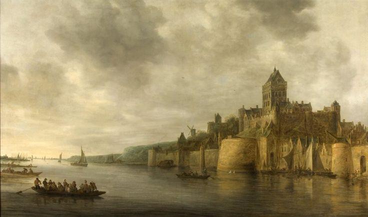 Gezicht op het Valkhof in Nijmegen, gezien vanuit het noordwesten – Jan van Goyen, 1641