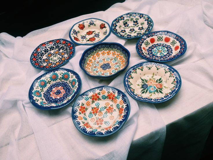 Розетки для джема, варенья  #посударучнойработы #керамикаручнойработы #посуда #ceramics #pottery #polishpottery ceramic tableware | pottery | polish pottery | boleslawiec | посуда | керамическая посуда | польская керамика | польская посуда | болеславская керамика | керамика