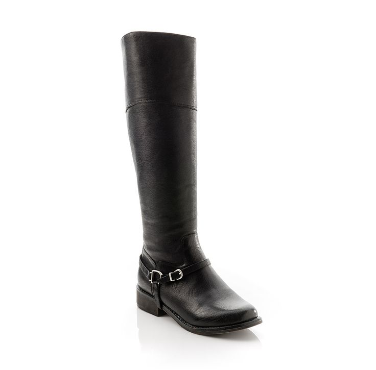 Black leather Heather boot