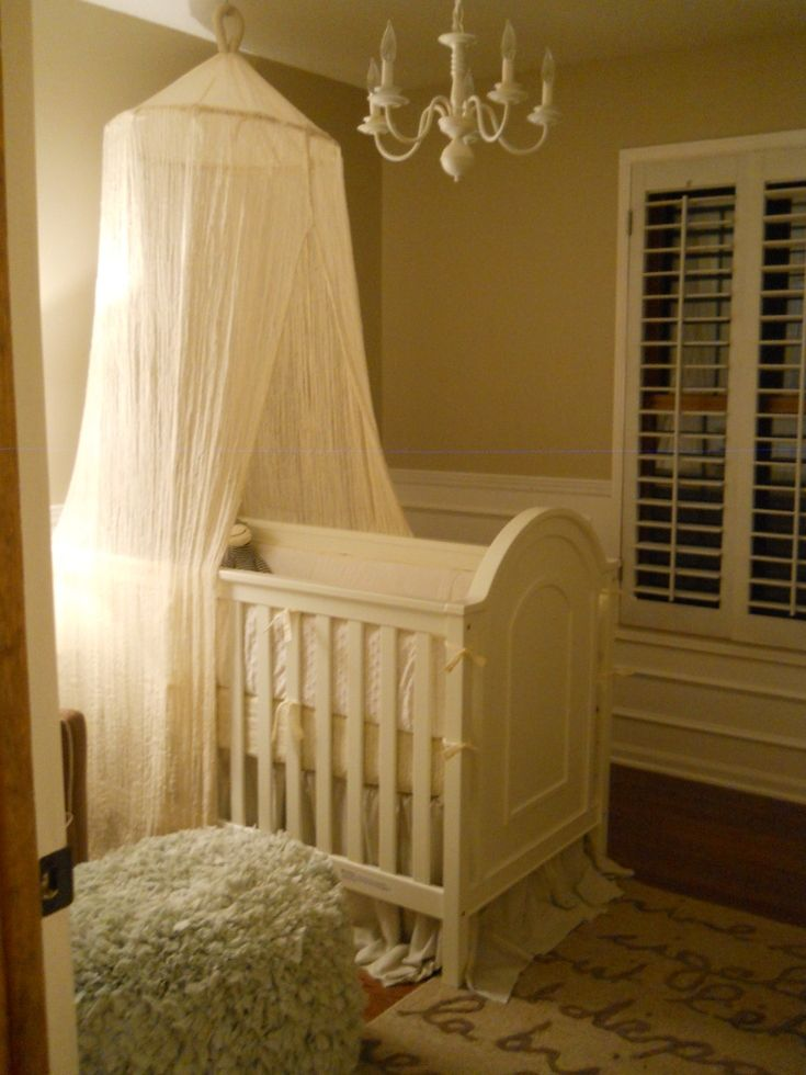 17 best ideas about canopy over crib on pinterest for Diy canopy over crib