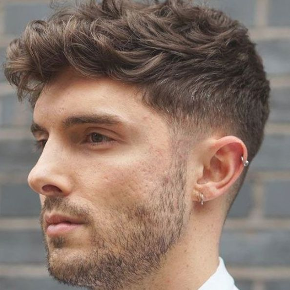 Thick Wavy Hair With Short Taper Fade Best Short Hairstyles For Men Cool Men S Short Haircuts Get Trendy Wavy Hair Men Mens Haircuts Short Haircuts For Men