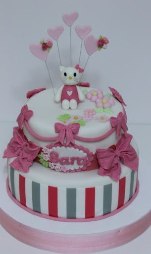 torturi-de-vis: Torturi cu Hello KittyCu Hello, Torturi De Vi, Kids Birthday, Torturi Cu, Parties Ideas, Hello Kitty, Birthday Cake