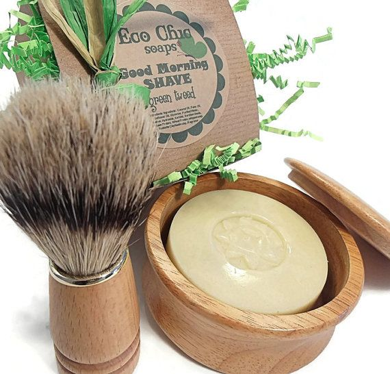 NEW Men's Shaving Kit, Shave Set, Shaving Kit, Shaving Set, MATCHING Boar Bristle Brush - Choose your scent - Gift Wrapped TOO