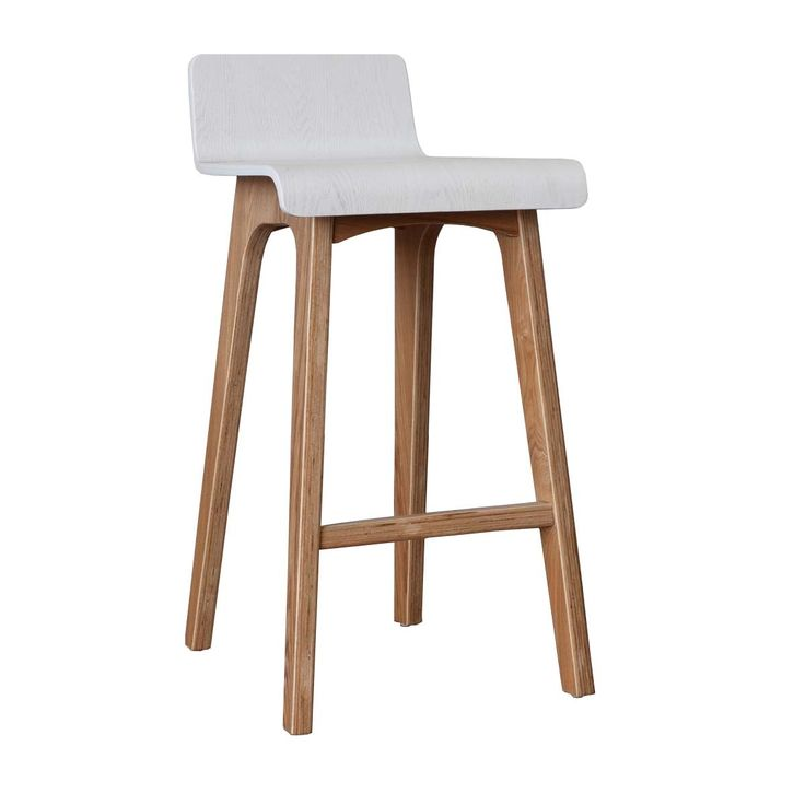Marina Bar Stool (Ash, White) - Bar Stools - Kitchen - FURNITURE