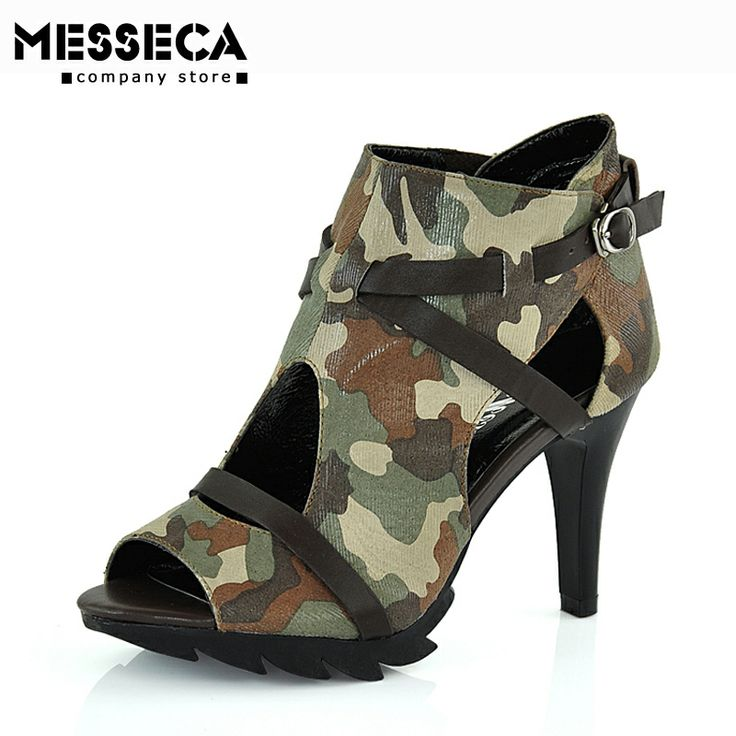 messeca ultra high heels camouflage cloth s