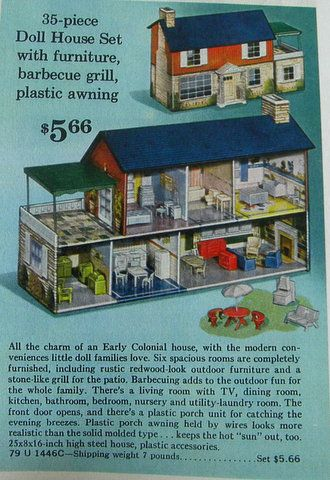 MARX. One of my cousins had dollhouse very similar, if not this exact one.