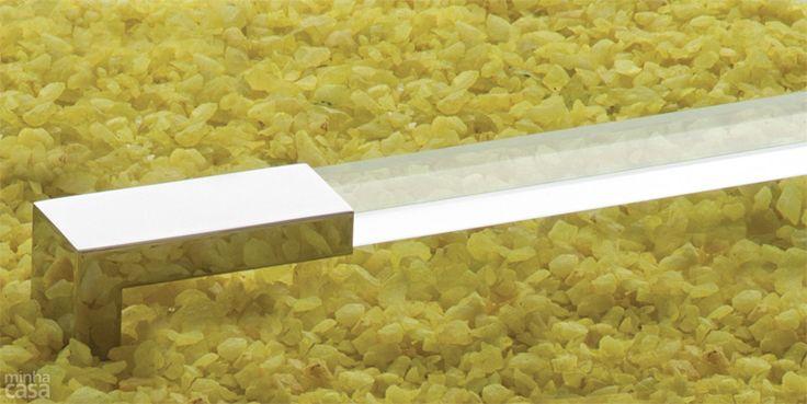 puxador textura transparente