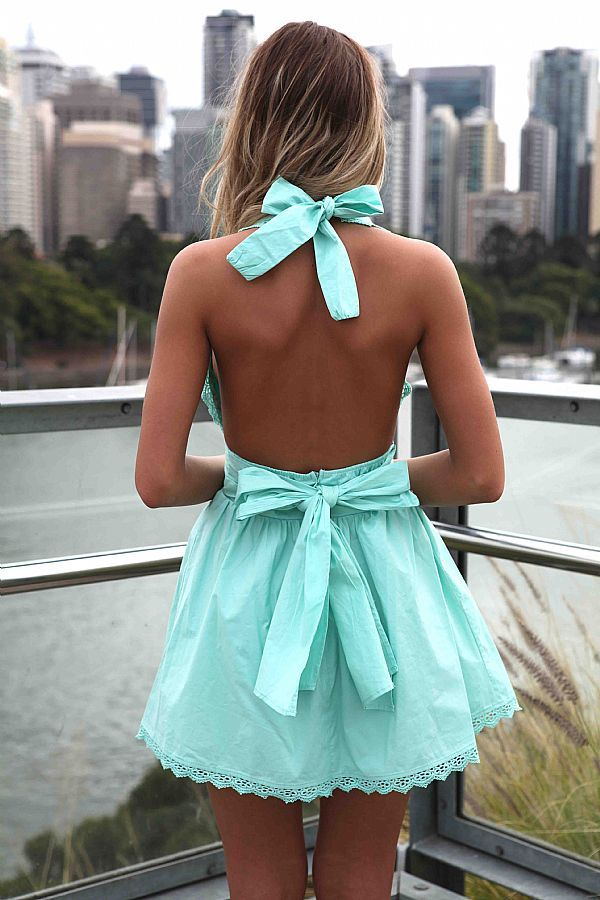 Super Cute!Summer Dresses, Fashion, Style, Tiffany Blue, Than, The Dress, Clothing Outfit, Bows, Open Back