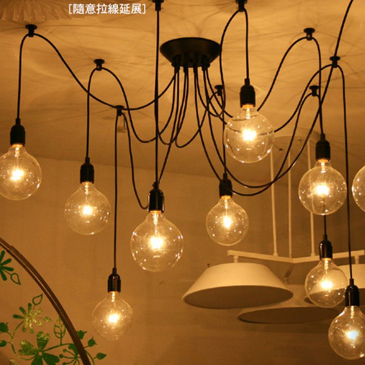 DIY Edison Bulb Pendant Lights E27 Lamp Bulbs Fixtures For Modern Pendant Lamps Adjustable Chandelier Ceiling lamp Free Shipping(China (Mainland))