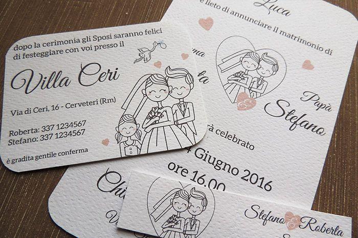 Partecipazioni Matrimonio Mamma E Papa Si Sposano.Partecipazione Matrimonio Mamma E Papa Si Sposano Matrimonio