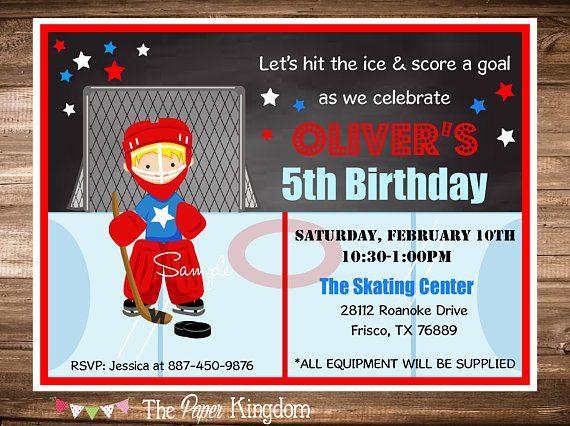 33 best Hockey Birthday Invitations images – Hockey Birthday Invitations