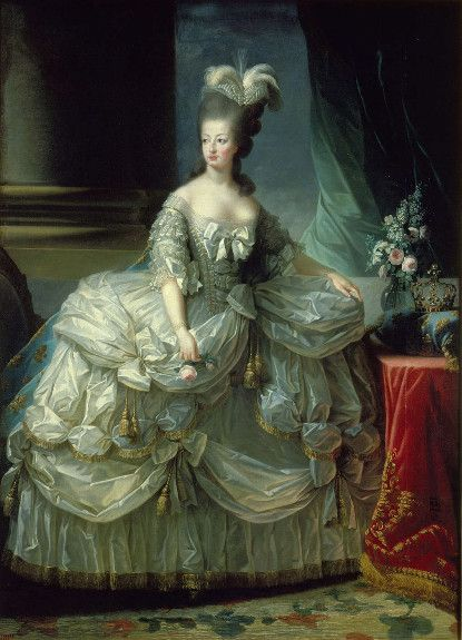 Marie Antoinette, Archduchess, Queen of France, 1778 in court dress, by Elisabeth-Louise Vigee Le Brun