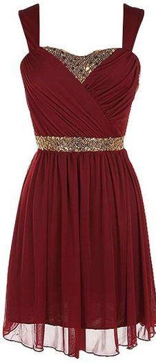 Burgundy Homecoming Dress,Chiffon Homecoming Dresses,Homecoming Gowns,Beading Party Dress,Short Prom Dress