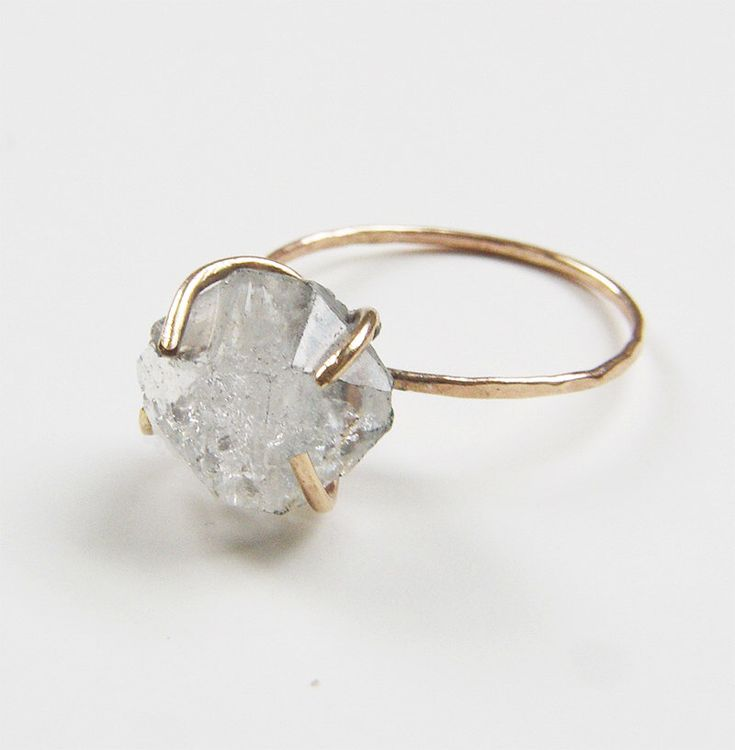 On SALE SALE Herkimer Diamond GF Ring by friedasophie on Etsy https://www.etsy.com/listing/212654530/on-sale-sale-herkimer-diamond-gf-ring