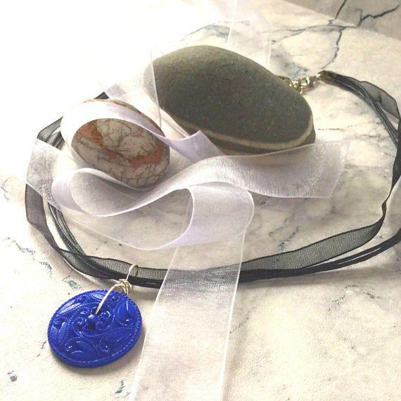Blue pendant necklace Statement Necklaces uk blue necklace