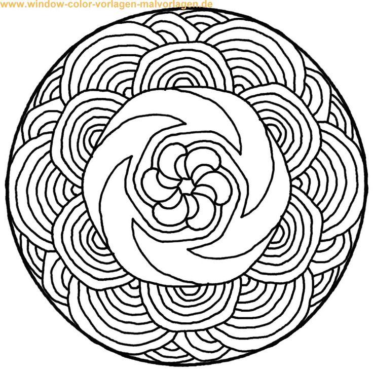 Taschenuhr malvorlage  Die besten 20+ Mandala zum ausdrucken Ideen auf Pinterest ...