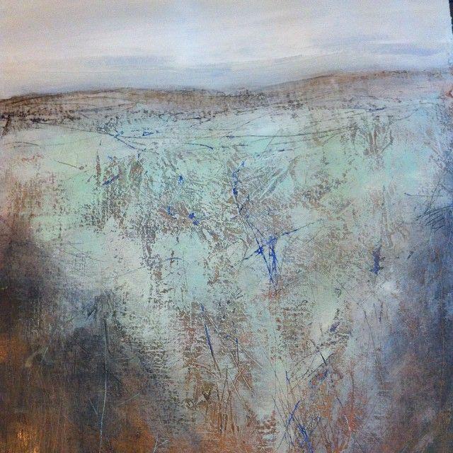 No man's land - freedom #janemonicatvedt #peace #acrylic #workonpaper #love #landscape #norway #jæren #creative #meditation #myart