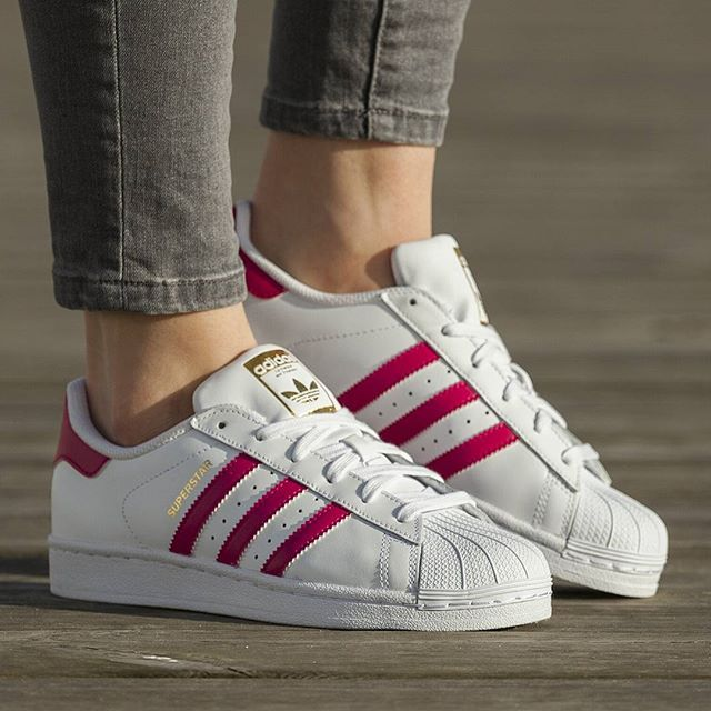 Adidas Superstar Junior Pink White Trainer | Adidas