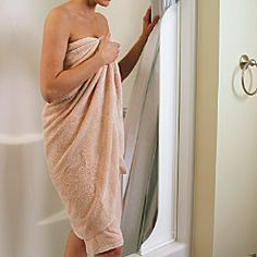 Tall Shower Curtain Splash Guard-I can velcro the shower curtain to this to keep unwanted water from leaking into the camper