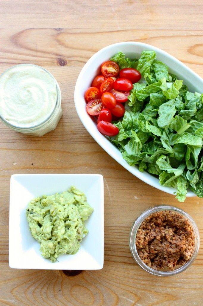 raw vegan taco salad ingredients