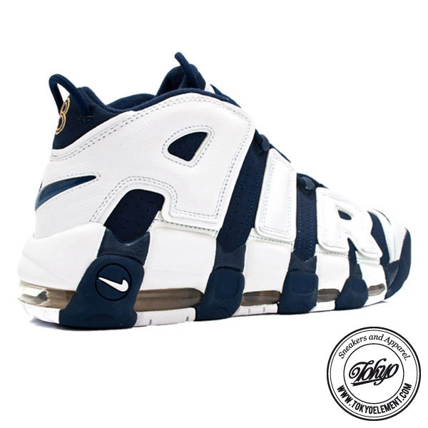 Nike Air More Uptempo Olympic Scottie Pippen Midnight Navy White Spirit Red  Super Deals