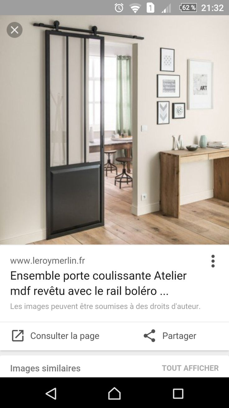 Free porte leroy merlin with rail porte coulissante leroy - Vitre double vitrage leroy merlin ...