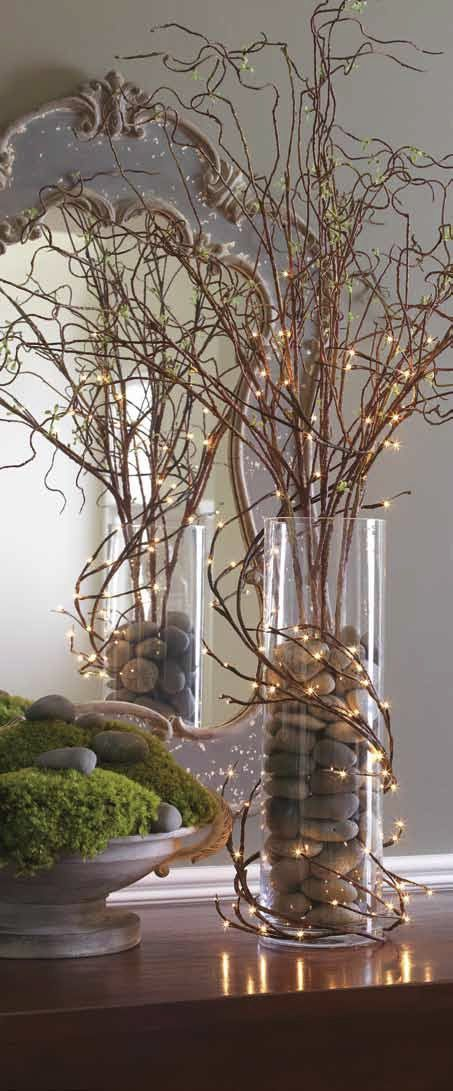 RAZ Lighted Willow Twig Garland 5 Ft