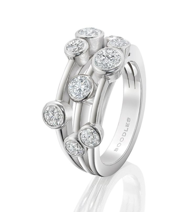 Classic Raindance Diamond Ring. In platinum with 1.51ct diamonds