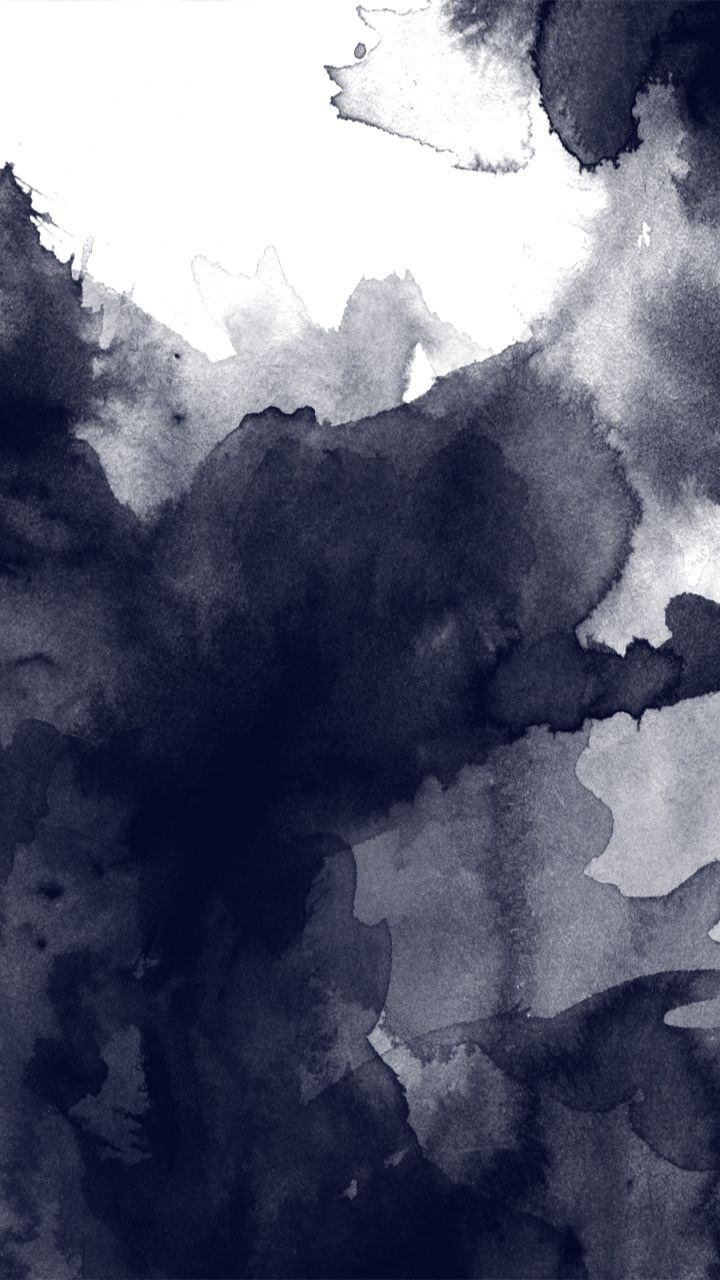 Black and white watercolor abstract art. Tap to see more Watercolor Style iPhone Wallpapers! - @mobile9