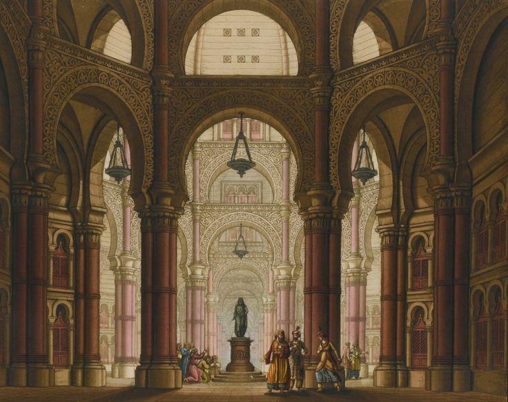 Sanquirico, Alessandro RACCOLTA DI VARIE DECORAZIONI SCENICHE, [WITH SCENICHE DECORAZIONI INVENTATE, E DIPINTE PEL DRAMMA SERIO L'ULTIMO GIORNO DI POMPEI], [MILAN, C.1832]