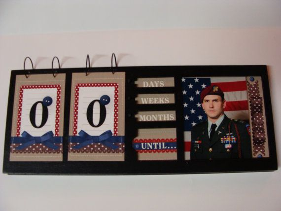 Deployment countdown! how cute is that!