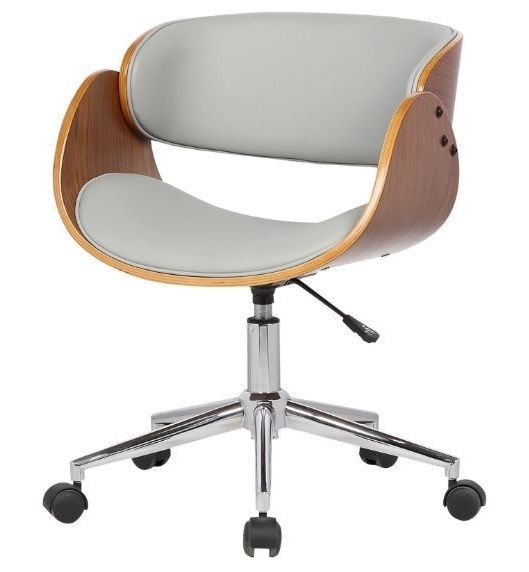 retro office desk swivel chair adjustable seat vintage guest mid century modern