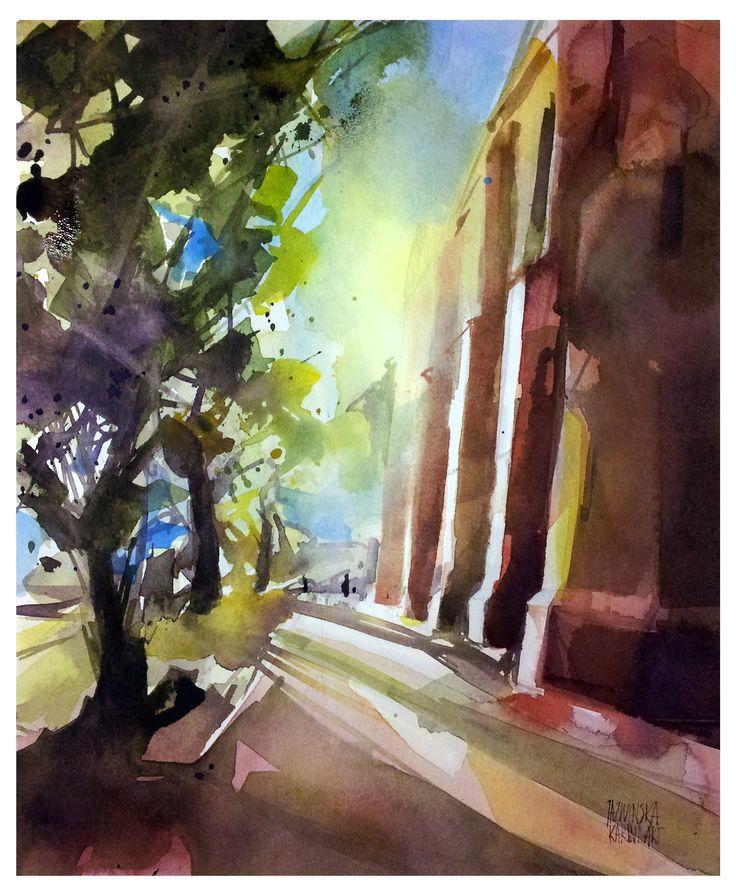 Kołobrzeg/ Watercolor/ format 21x26 cm/ paper: Saunders 300g