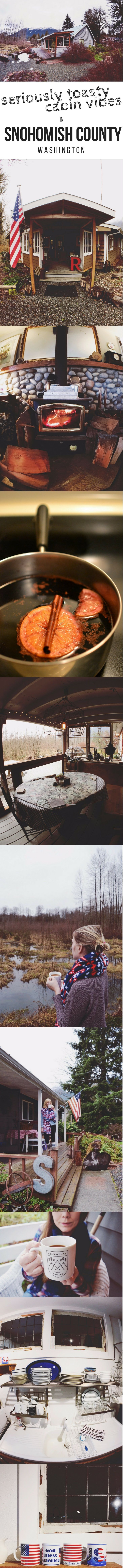 Image Via: Gypset Jenn We Went to Washington For Some Seriously Toasty Cabin Vibes (PHOTOS) via Canadian Traveller magazine.   #Washington #Darrington #Snohomish #brewery #rafting #see #do #eat #drink #highlights #cabin #cozy #getaway #escape #vacation #pnw #pnwwonderland