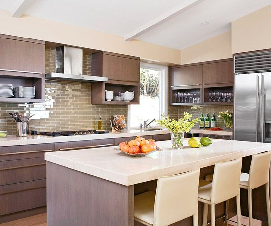 Refresh your kitchen without a complete remodel by painting the interior! Browse through this list of color trends to splash a new hue on your walls, cabinets or other kitchen furniture for a cheap, new look.