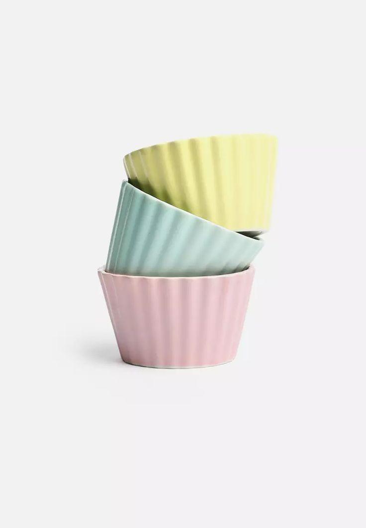 Set of 3 Soft Pop Snack Bowls