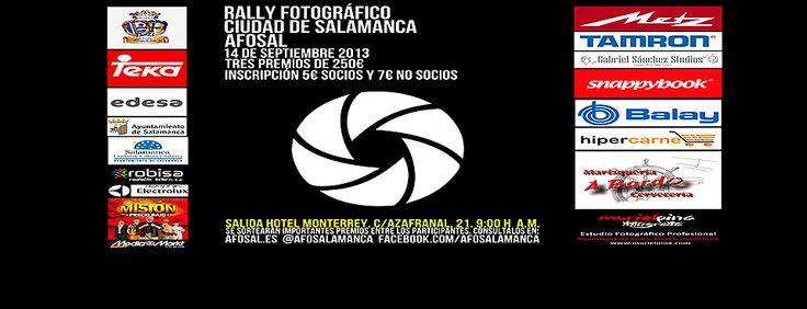 Formulario de inscripción en el Rally Fotográfico Ciudad de Salamanca AFOSAL