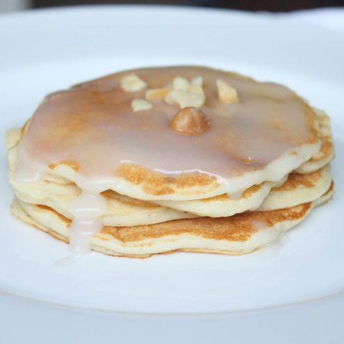 Banana Macadamia Nut Pancakes with Coconut Syrup-  a different coconut syrup recipe than I have tried... sounds good.