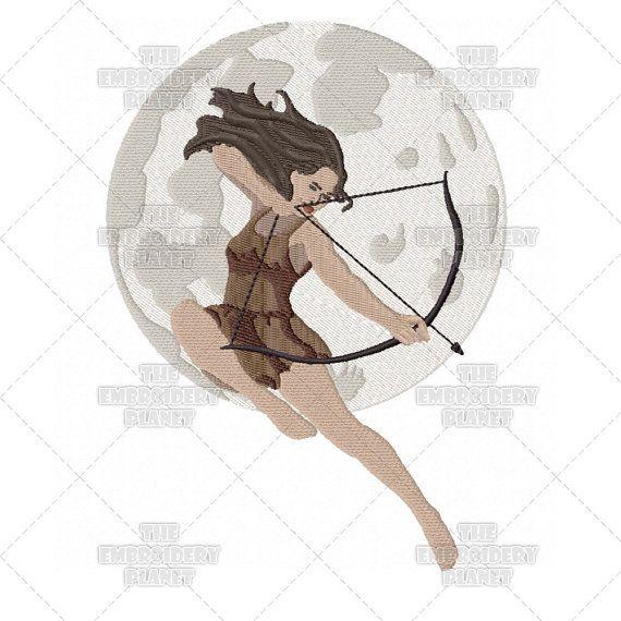Artemis Goddess Machine Embroidery Pattern Greek Mythology
