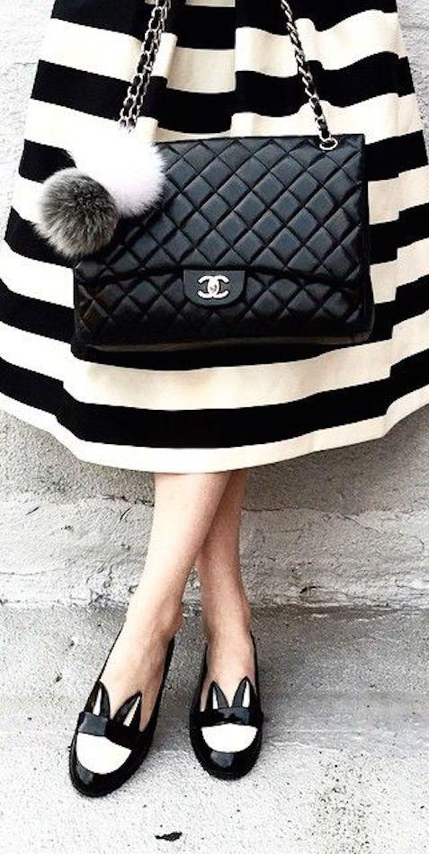 Chanel ~ Black Quilted Leather Shoulder Bag 2015