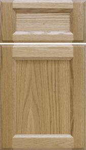 Natural Red Oak Door [Inside: Ogee / Outside: Half Shoulder Profiles]  M and J Woodcrafts - Your Wholesale Cabinet Door Manufacturers