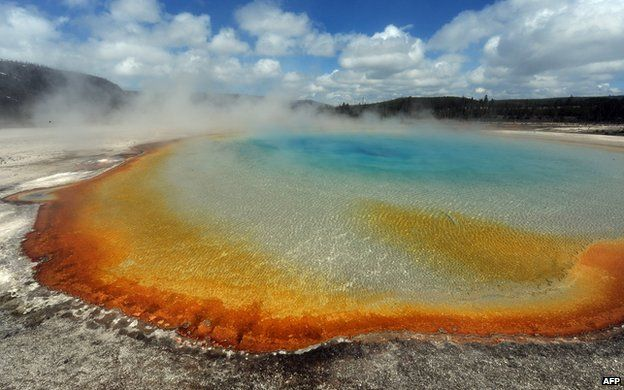 The supervolcano that lies beneath Yellowstone National Park in the US is far larger than was previously thought, scientists report. A study shows that the magma chamber is about 2.5 times bigger than earlier estimates suggested.