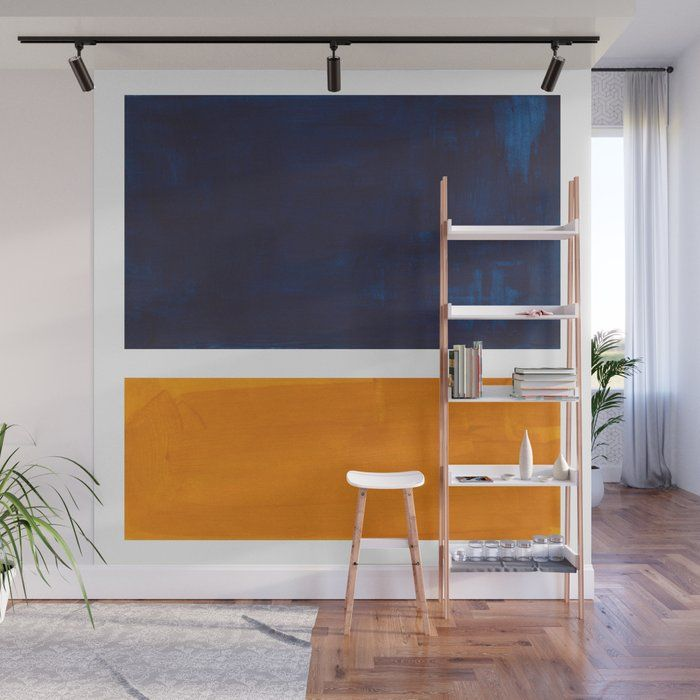 Best Buy Navy Blue Yellow Ochre Abstract Minimalist Rothko 400 x 300
