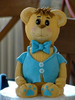 Stella's Κουζινομπερδέματα: Τούρτες με Ζαχαρόπαστα-Teddy Bear