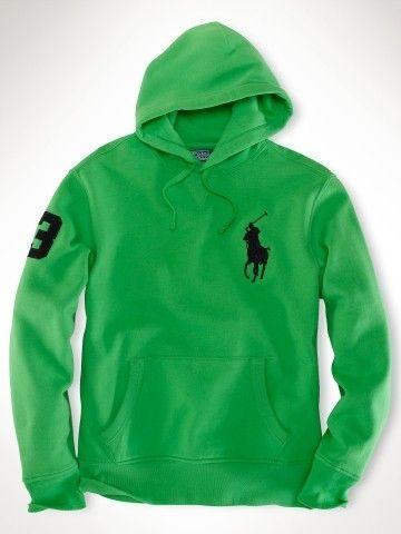 polo ralph lauren waffle shirt   Hot sale Ralph Lauren Mens Neon Big Pony Fleece Hoodie Sport Gre