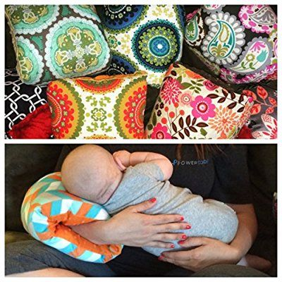 The Nursie Slip-on Arm Nursing Pillow (Lucky Southern w/t Gray Minky)