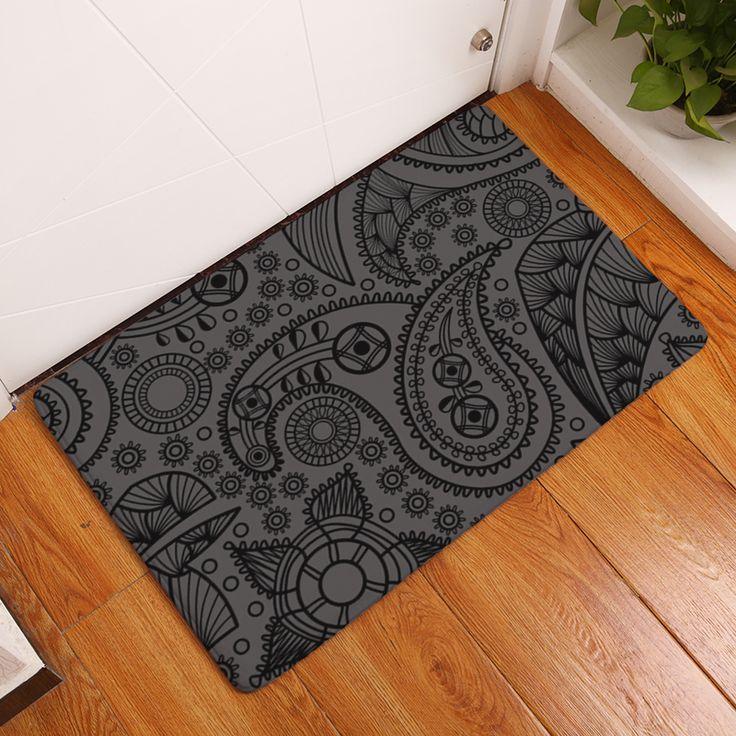 2017 New Geometry Print Carpets Non Slip Kitchen Rugs For Home Living Room Floor Mats
