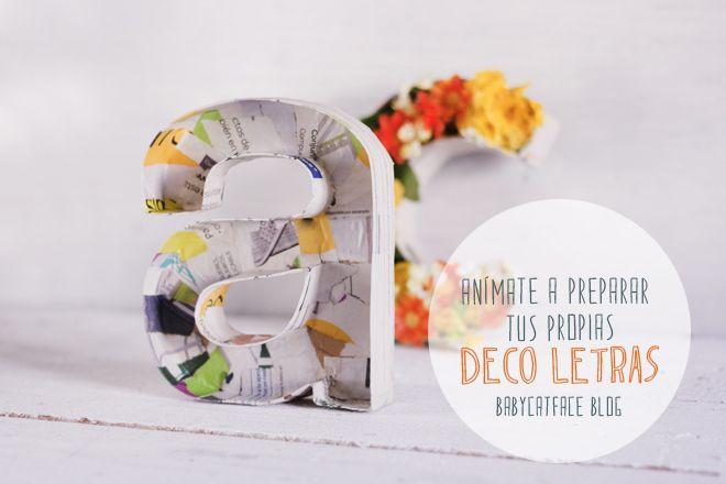 BabyCatFace: DIY: DECO LETRAS