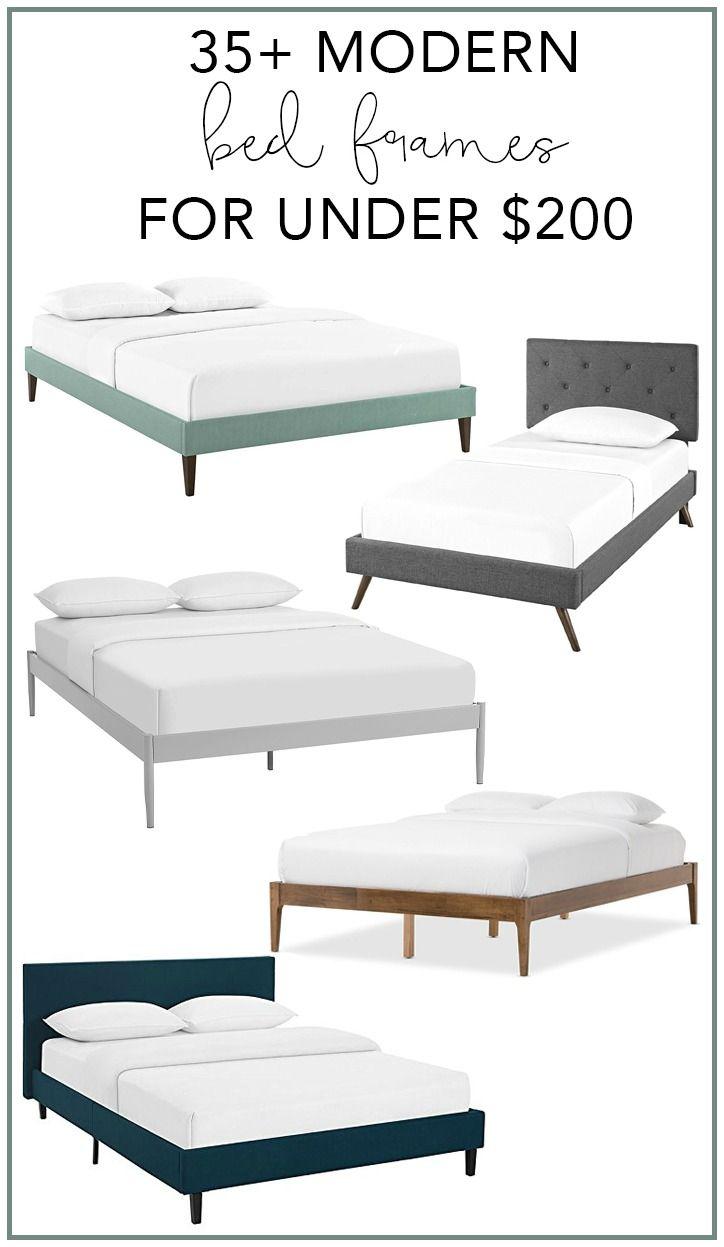 35+ Modern Bed Frames for Under $200 | My Breezy Room #modernbed #modernbedroom #modernbedframes #modernbeds #howtodecorate #homedecor #modernhome #home